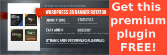 WordPress 3D Banner Rotator with Statistics (free for november only!)