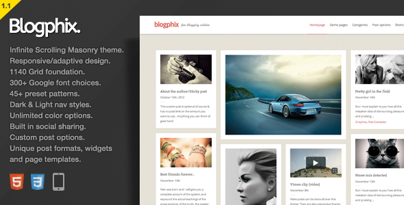 premium wordpress blogging theme january 2013