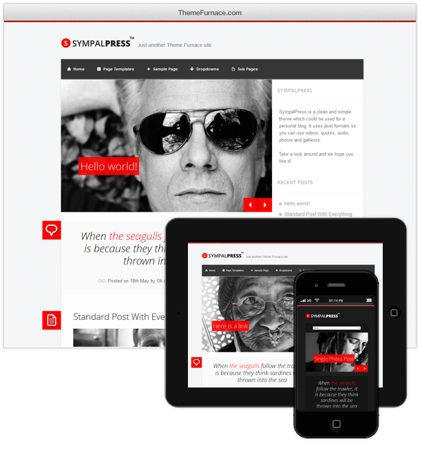 free premium wordpress theme april 2013