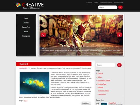 Free vertical navigation WordPress Theme 2013