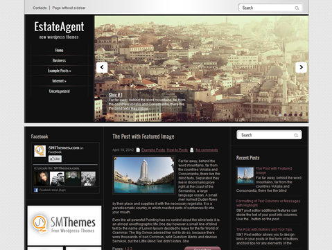 Free WordPress Theme 2013 vertical navigation