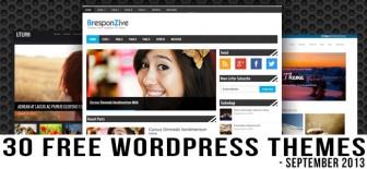 30 Free WordPress Themes For September 2013