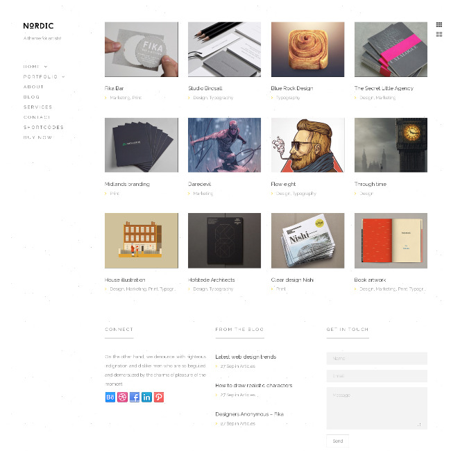 sidebar menu wordpress theme
