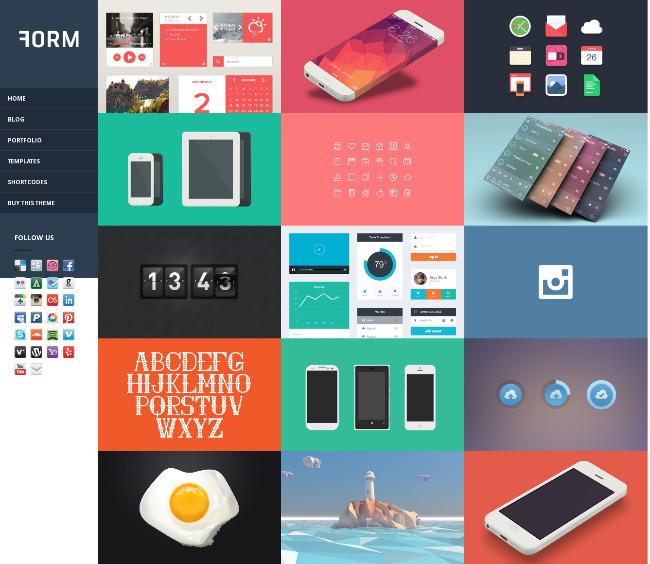 sidebar menu wordpress theme