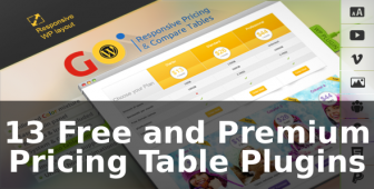 13 Free and Premium Pricing Table Plugins