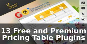 13 Free and Premium Pricing Table Plugins