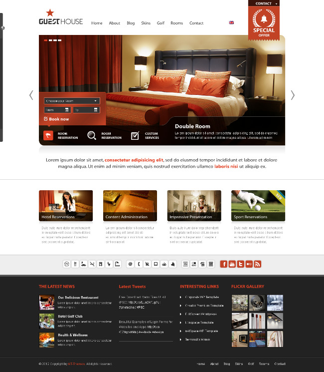 guesthouse wordpress theme