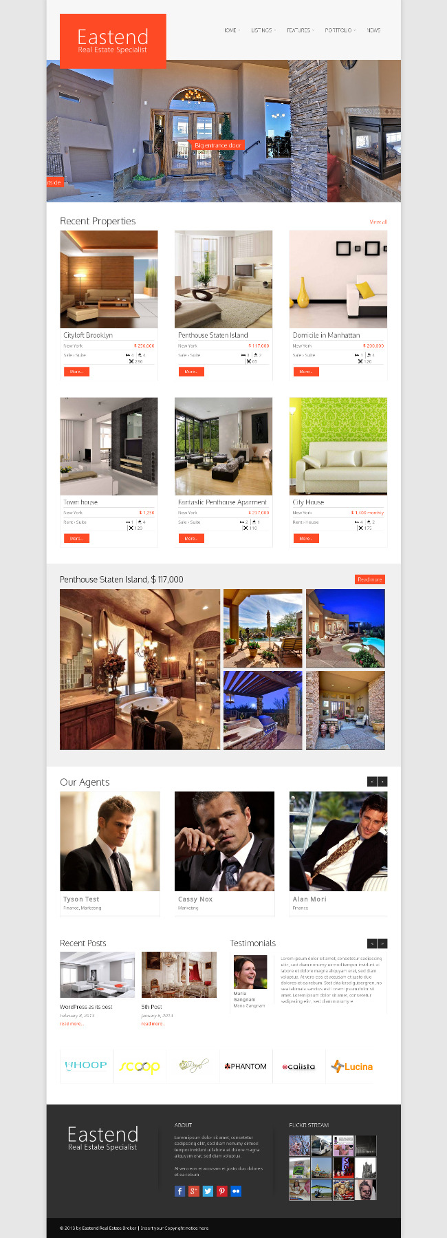 real estate WordPress theme 2014