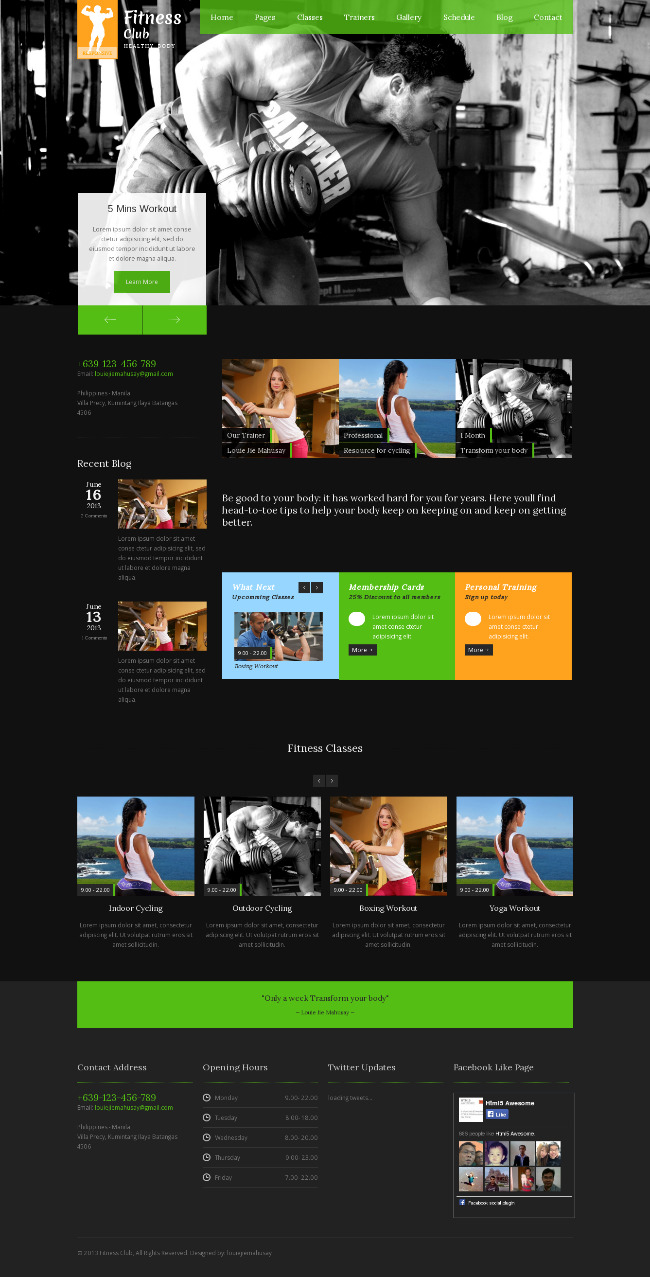 best fitness WordPress themes 2014