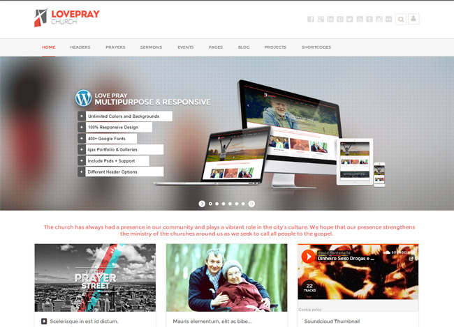 LovePray WordPress Theme