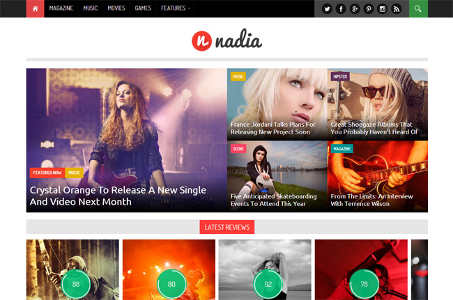 Nadia Responsive WordPress News Theme