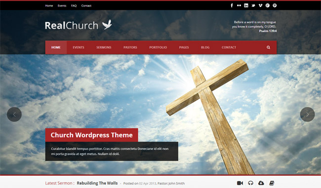 Real Church Responsive Retina Ready WordPress Theme