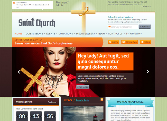 SaintChurch WordPress Theme