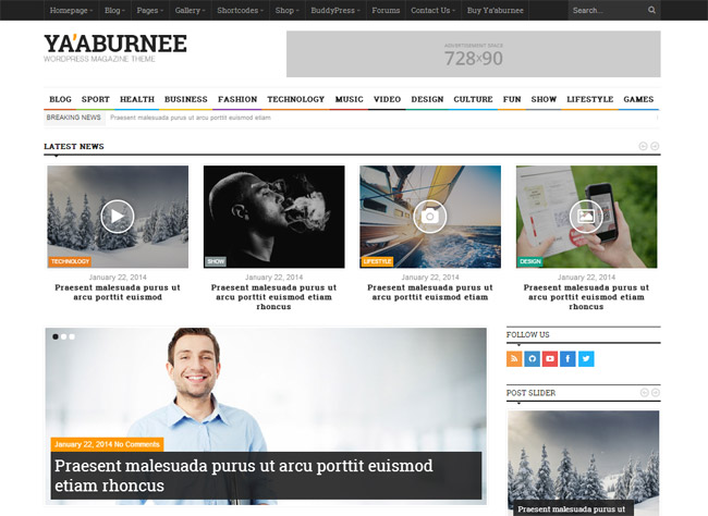 Ya'aburnee Magazine & E-Commerce WordPress Theme