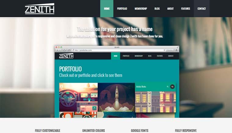 Zenith – Ultimate Responsive Portfolio Theme