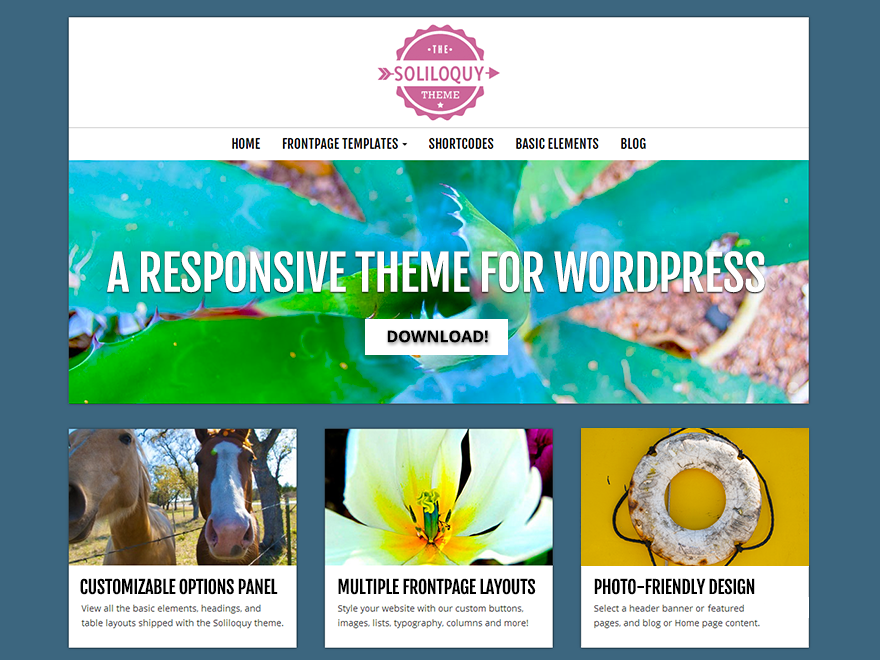 Soliloquy Free WordPress Theme