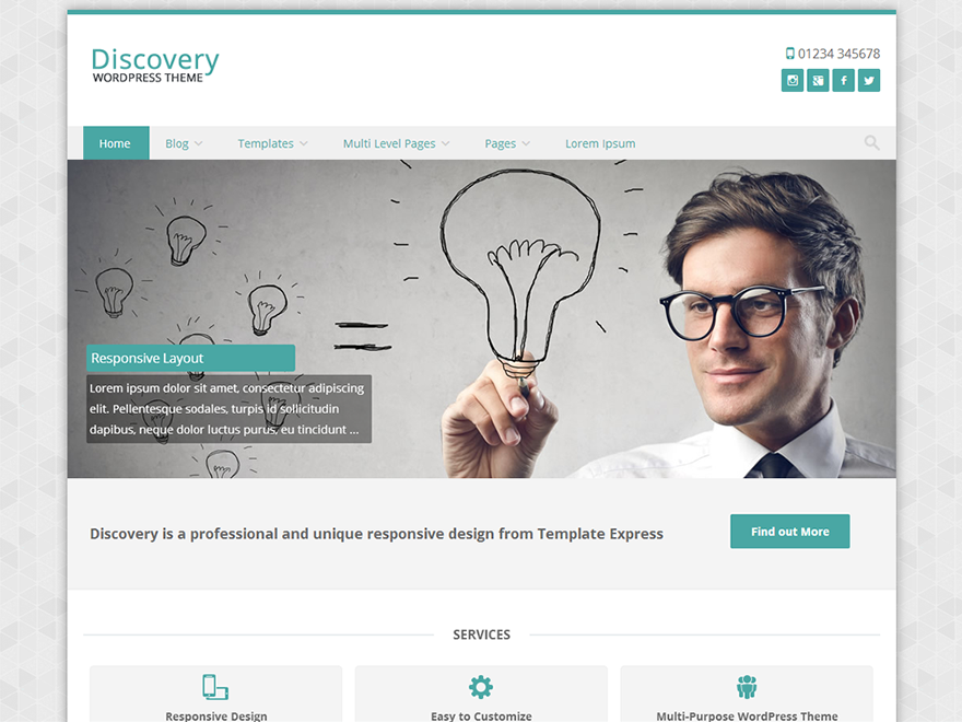 Discovery Free WordPress Theme