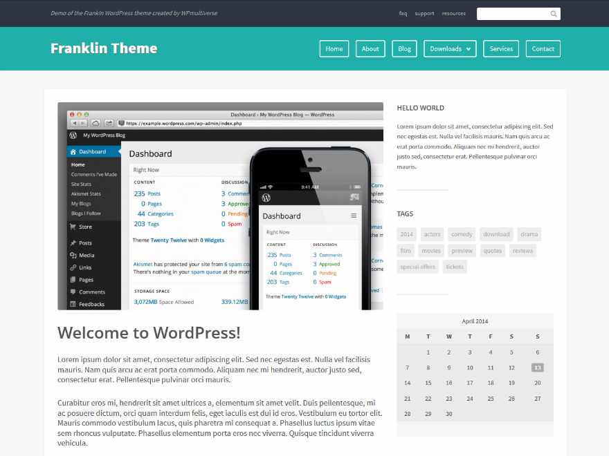Franklin Free WordPress Theme