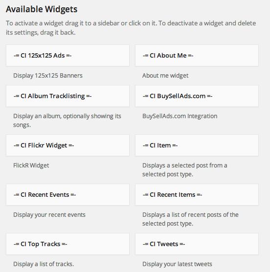 Berlinger CSSIgniter Widgets
