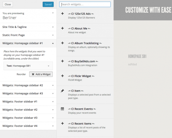 Berlinger CSSIgniter: Front end editing widgets