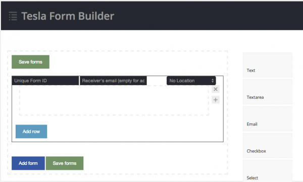 Tesla Form Builder